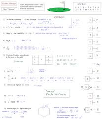 Partial Sums Worksheets Math Plane Act Hidden Message Puzzle 2 Golf