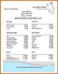 Wholesale Price Sheet Template Price List Template Service Wholesale Price List Template Jpg