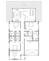 Narrow Modern House Plans Small House Plan With Three Bedrooms Suitable To Narrow Lot