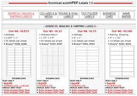 autofill pdf labels printable pdf label templates free