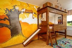 photo chambre enfant design interieur décoration chambre enfant cabane enfant bois