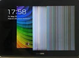 half android half my display has multicolored lines after android