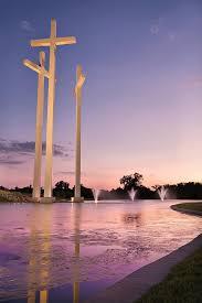 church crosses the three crosses cross church rogers arkansas photograph by