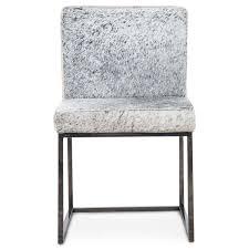 sleek cowhide dining chair modshop