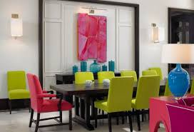 colorful dining table a burst of colors from 20 dining sets with multi colored chairs