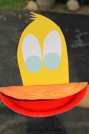 paper plate duck puppet virtual book club for kids reading confetti