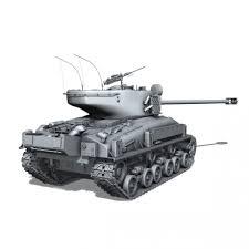lego army vehicles m51 super sherman 3d model cgstudio
