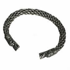 asgard hand crafted pewter viking dragon torque bracelet gotland