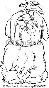vectors maltese dog cartoon coloring book black white