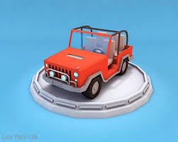 cartoon car cartoon car jeep 3d model cgtrader