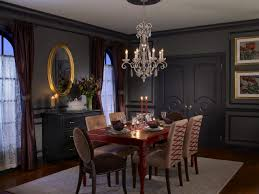 dark dining rooms black and white dining room chair covers black