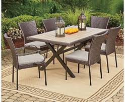 patio furniture 7 dining set tremendeous popular of 7 patio dining set outdoor sets