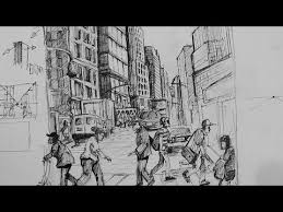 pen u0026 ink drawing tutorials how to draw a busy city scene youtube