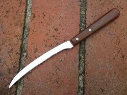 rare vintage case xx p210 tomato grapefruit fixed blade knife