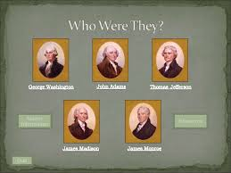 first five presidents the first five presidents of the united states