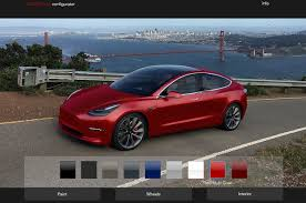 build your own tesla model 3 with this unofficial configurator