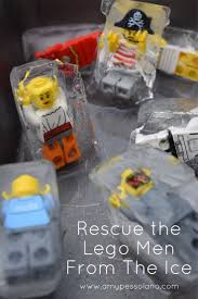 rescue the lego men ice excavation activity birthdays summer