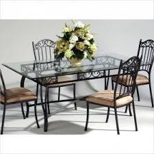 Rectangular Glass Top Dining Room Tables Glass Top Wrought Iron Dining Table Foter