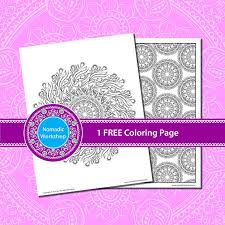 mandala free coloring stress relief coloring adults