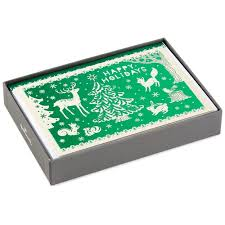 woodland creatures christmas cards box of 16 boxed cards hallmark