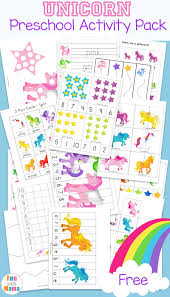 unicorn preschool activity pack homeschool worksheets preschool