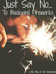 just say no to backyard fireworks