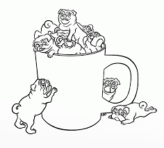 pug puppy coloring pages free christmas pug coloring pages kids