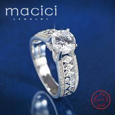 stone rings wholesale images Real 925 silver ring women element big stone rings for women jpg
