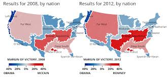 Romney Obama Map Is The Usa One Nation Indivisible Phil Ebersole U0027s Blog