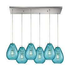 teal pendant lights hanging lights the home depot