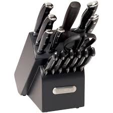 walmart kitchen knives farberware 15 forged riveted knife set black