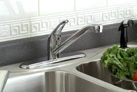 delta kitchen faucet with sprayer bayview kitchen faucet with sprayer delta plumbing