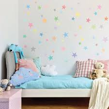 wall decals stars pastel sorbet colors eco friendly fabric