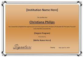 formal degree award certificate template formal word templates