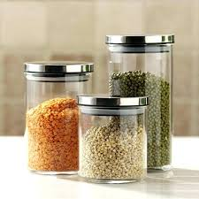 storage canisters for kitchen decorative glass containers contemporary canisters for kitchen