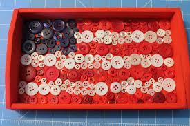 American Flag Decor 4th Of July Decor Diy Button Flag Tray Tutorial