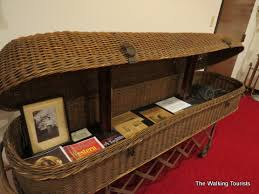 wicker casket step right up see coffin the casket and