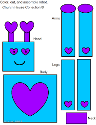 church house collection blog robot valentine craft for kids