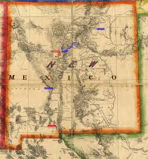 Route 66 New Mexico Map by Rebels Begin Their Long Treacherous Retreat From New Mexico