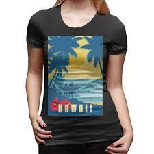 Hawaii Travel Shirts images Funny hawaii vintage poster vintage travel t shirt women cotton jpg