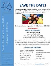 Save The Date Emails Save The Date U2014 Together For Children Conference Georgia