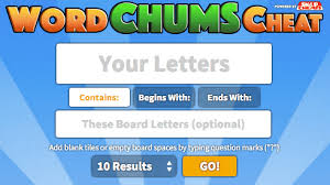 cheats and answers for word chums the most accurate word finder ever