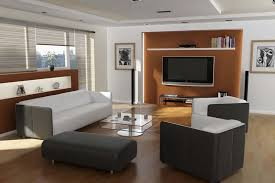 Living Room With White Leather Sectional Interior Design Adorable Modern Living Room Decorating Ideas For