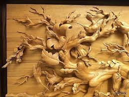 large wood sculpture large wall carved relief wood carving sculpture