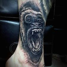 23 best tattoo gorilla face kaleidoscope images on pinterest