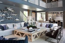 nautical theme living room beach style with pillows themed outdoor