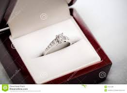 wedding ring in a box engagement ring in box royalty free stock photography image