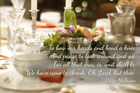 thanksgiving day prayer to say with family and friends
