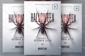 halloween minimalist flyer v2 templates creative market
