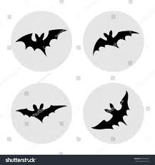 vector illustration simple halloween bats iconsobjects stock